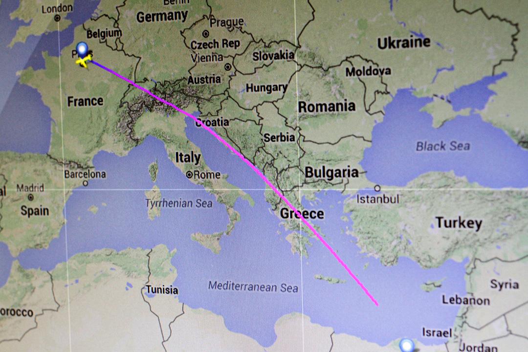 巴黎飛往開羅的客機(航班號MS804)飛入埃及領空約16公里飛在雷達上消失。