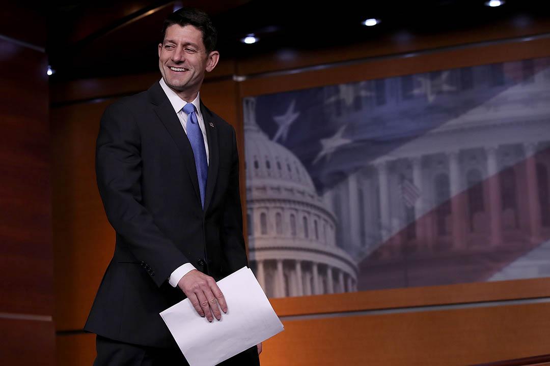 國會眾議院議長保羅·瑞安 Paul Ryan 。