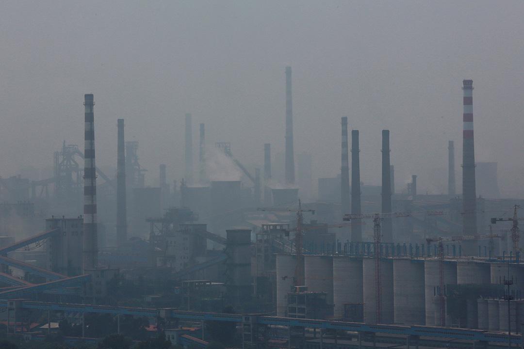 圖為遼寧省一間鋼鐵工廠。