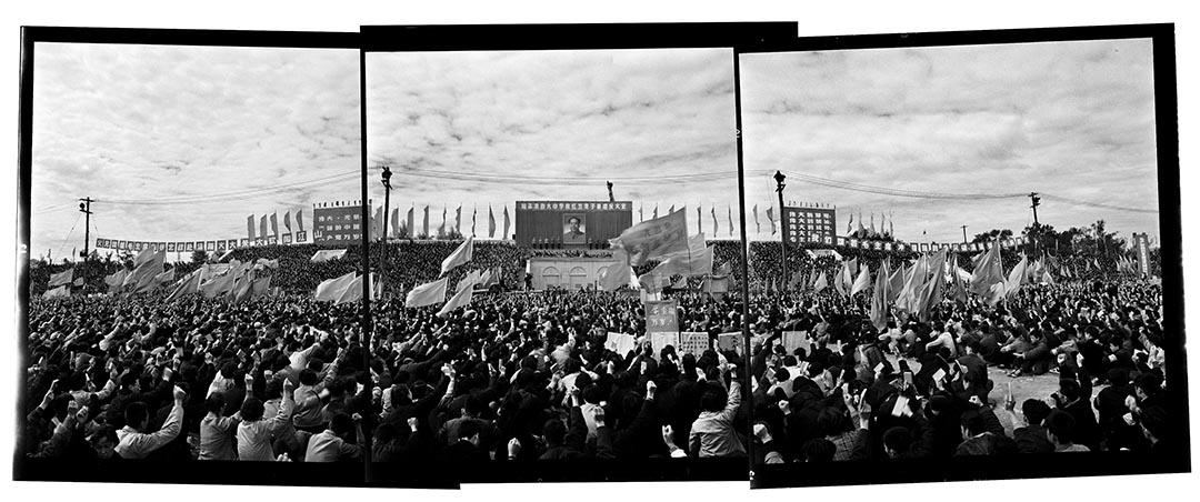 1966年9月13日,黑龍江哈爾濱人民體育場,紅五類子弟大會。