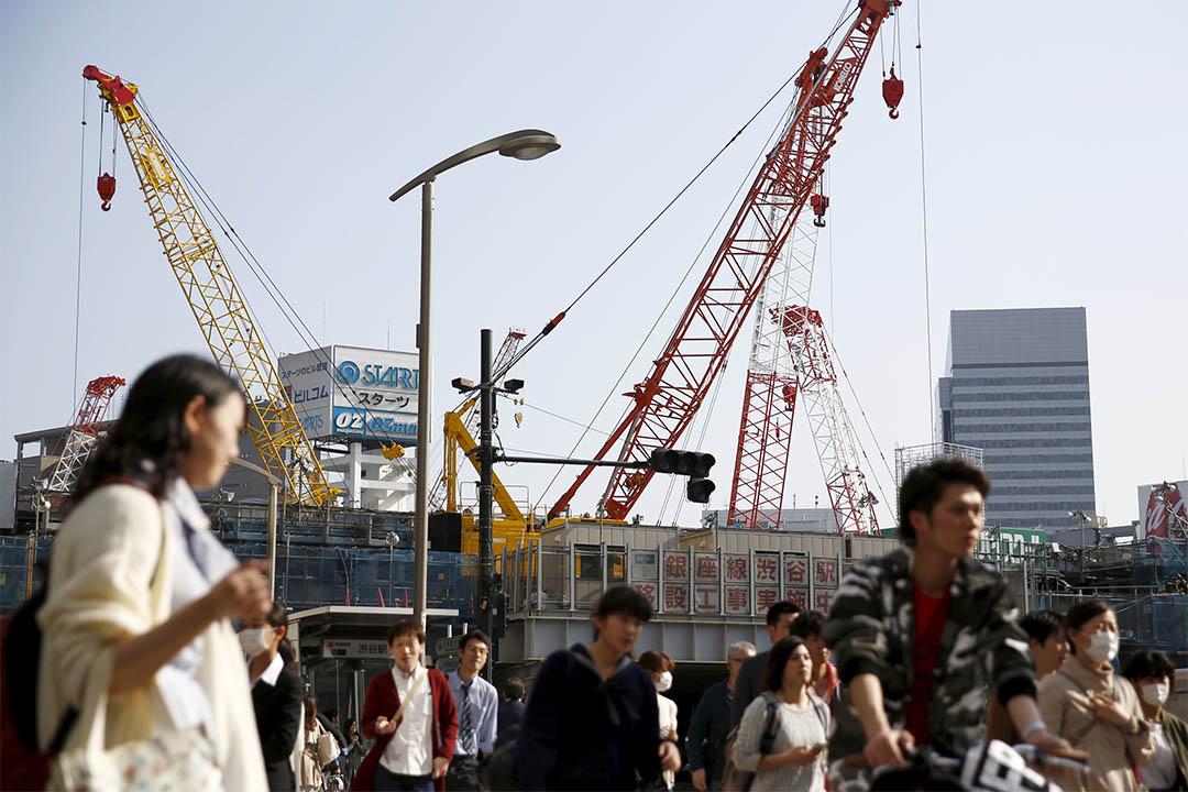 2016年4月19日,東京新宿一個購物區。