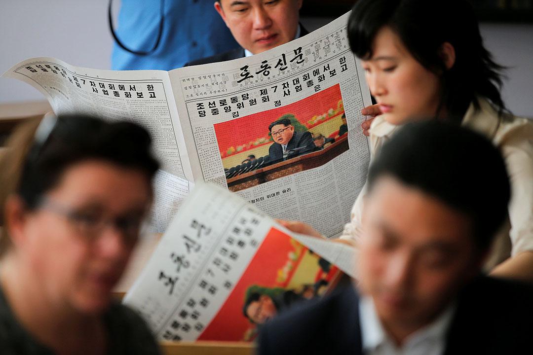 北韓最高領導人金正恩在勞動黨第七次全國代表大會上表示,只要敵對勢力不以核武器侵犯北韓主權,北韓不會率先使用核武器。攝:Damir Sagolj/REUTERS