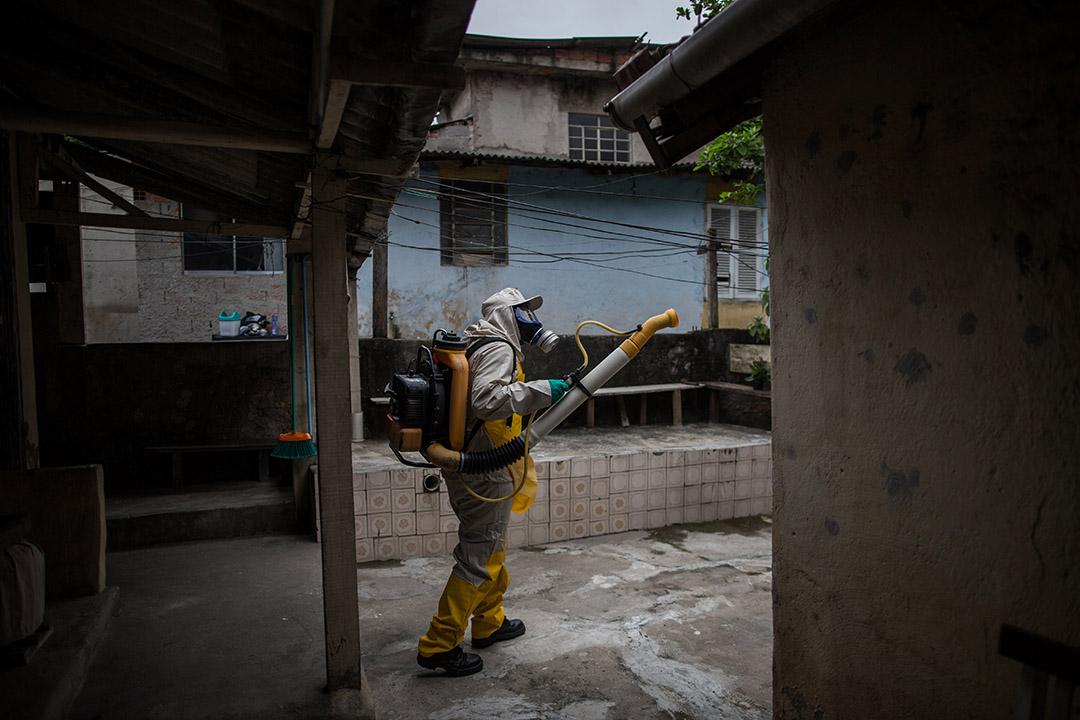 巴西衞生部門進行滅蚊工作。