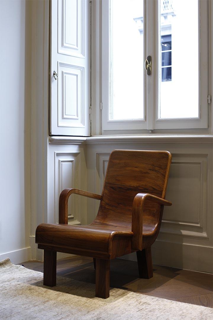 向設計師Guglielmo Ulrich致敬的復刻家具作品。攝:Leo Chan