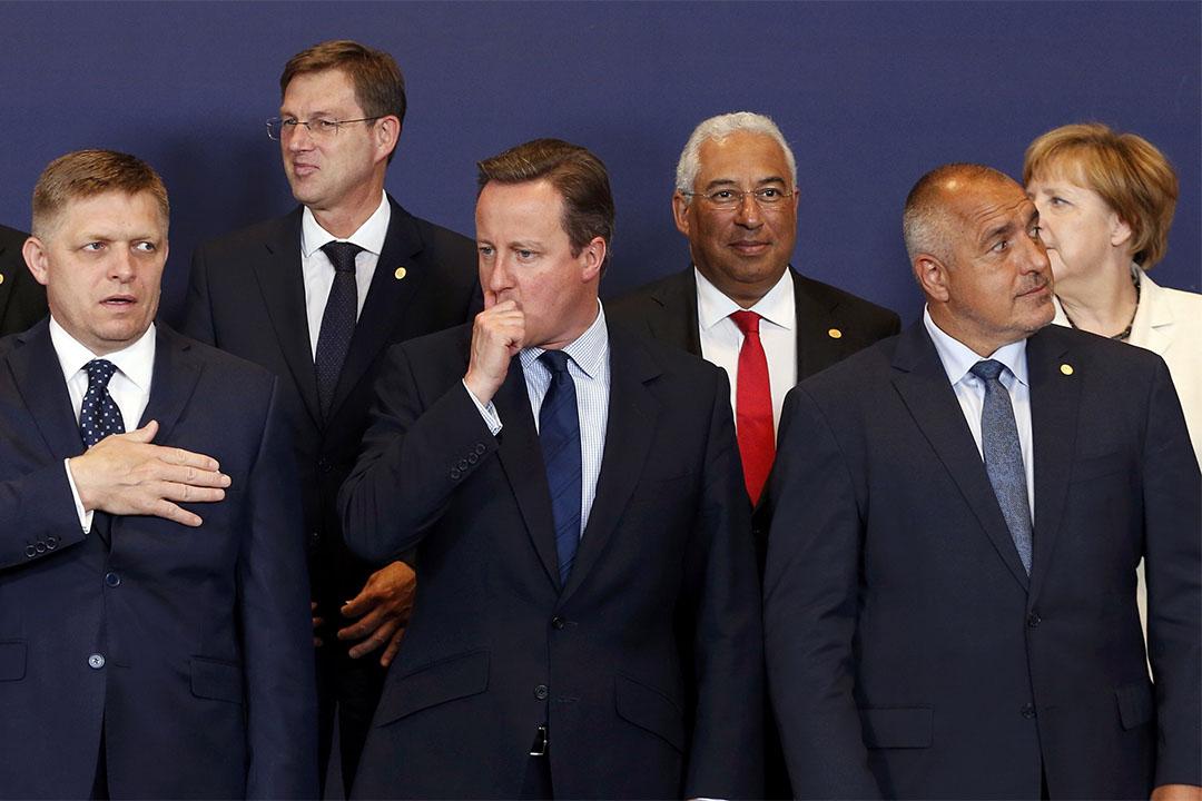 2016年6月28日,比利時布魯塞爾,英國首相卡梅倫與歐洲各國元首一同出席歐盟峰會。