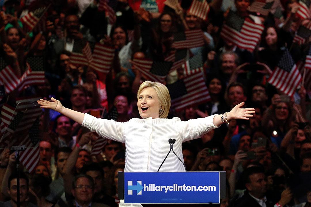 希拉里將成為首位女性民主黨總統候選人。
