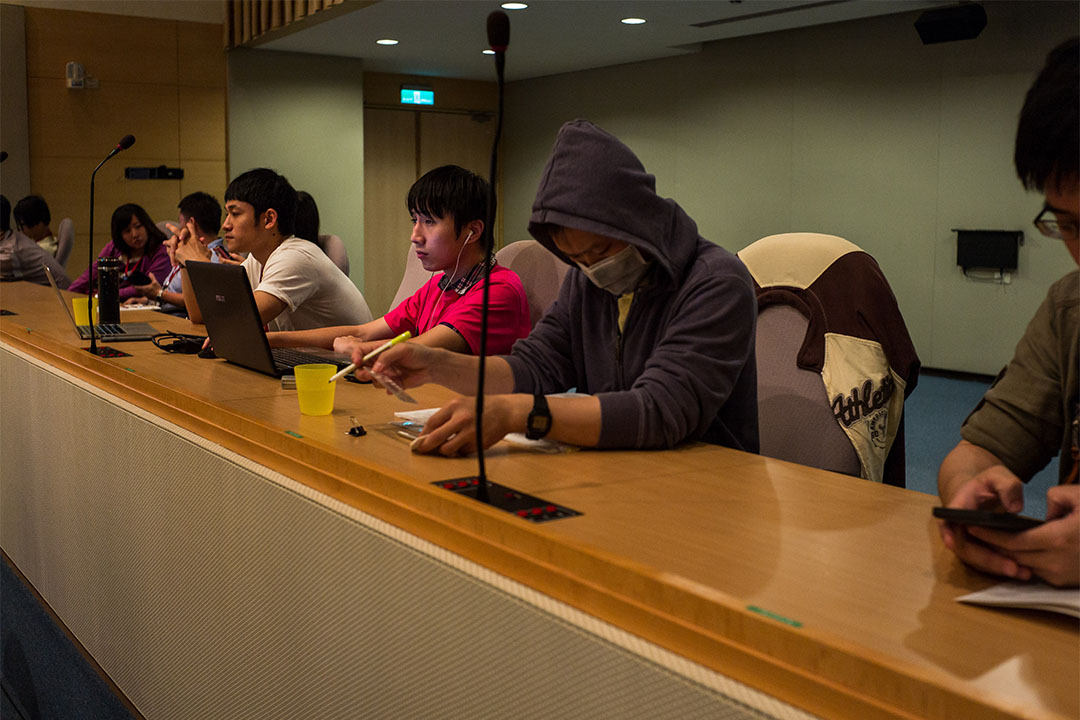 彭盛韶:2016年g0v的大會,約有上百名年輕公務員參與,即代表資訊世代在觀念上,已能融合政府及公民科技社群兩種不同思維。攝:Billy H.C.Kwok/端傳媒