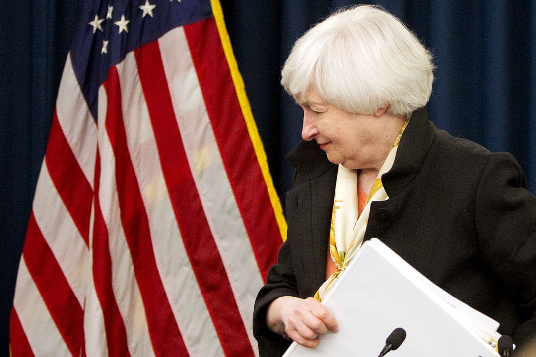 2016年6月15日,美國華盛頓,美國聯儲局主席耶倫召開新聞發布會。
