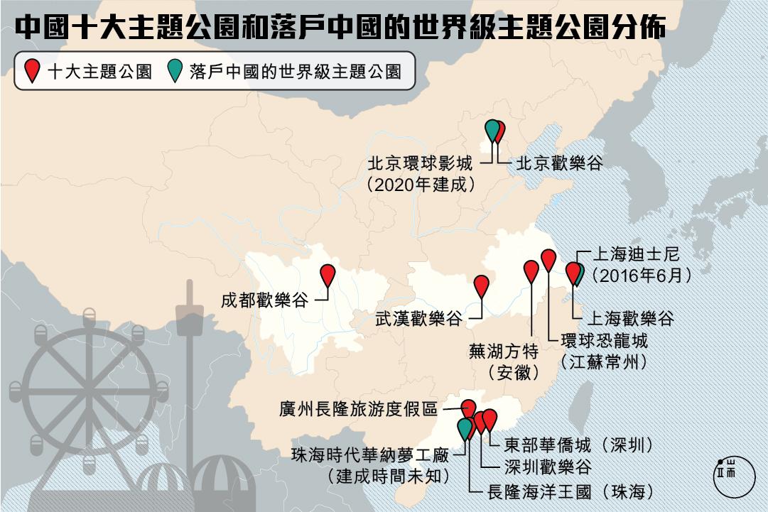 中國十大主題公園和落戶中國的世界級主題公園在哪裡?