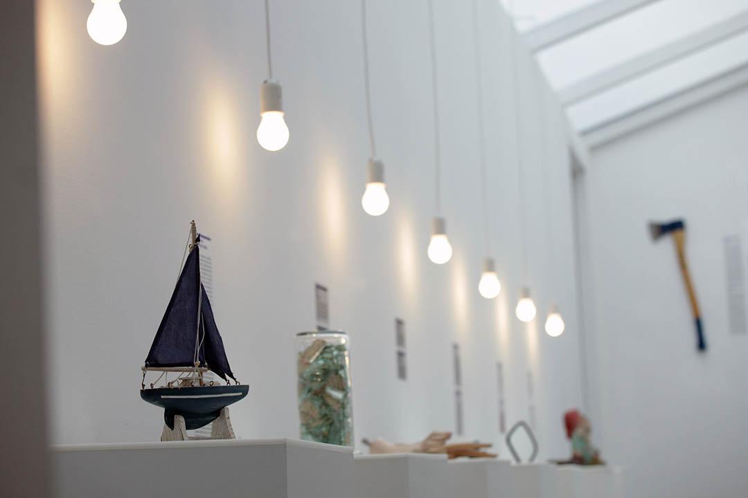 圖為分手博物館展出的分手相關的物品。