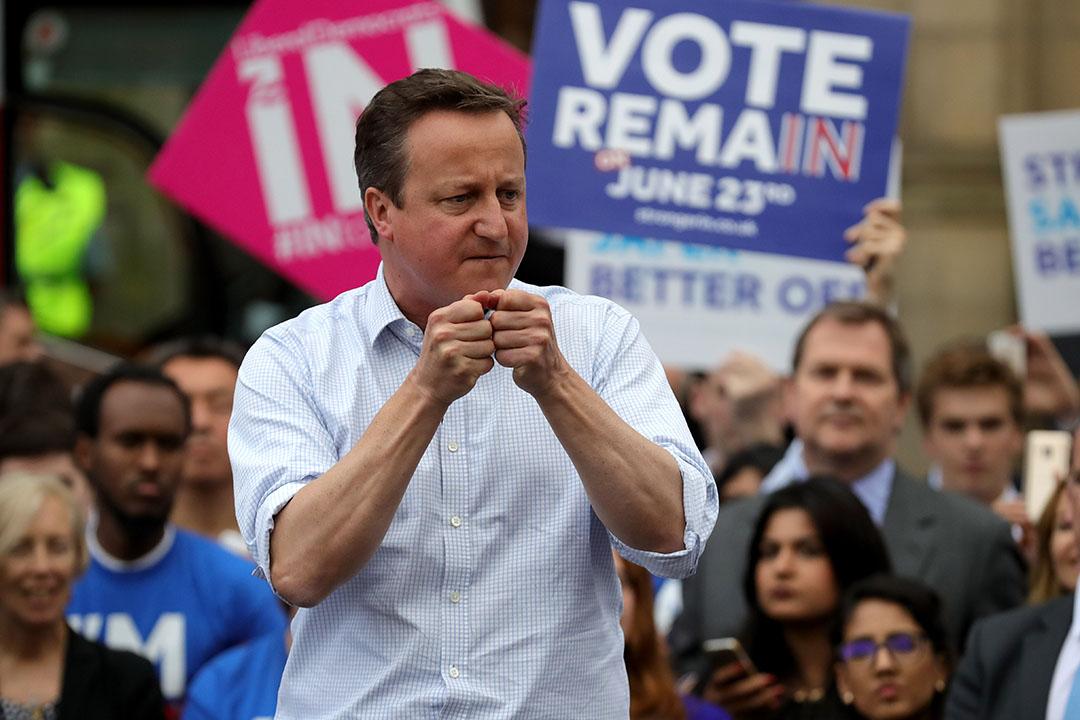 英國首相卡梅倫出席呼籲選民「留歐」活動。