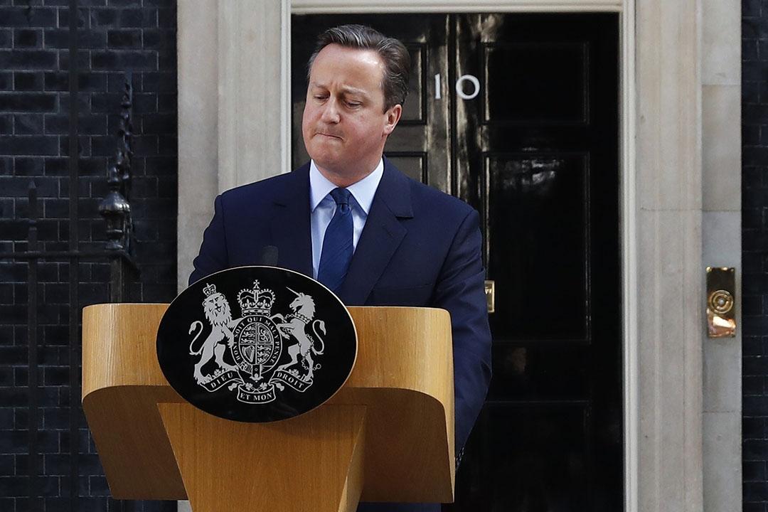 英國首相卡梅倫宣布辭職。