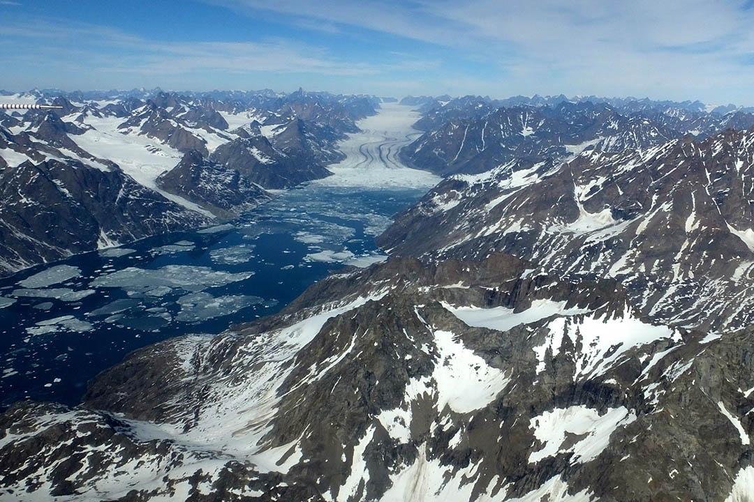 2016年5月17日,格陵蘭的冰川。