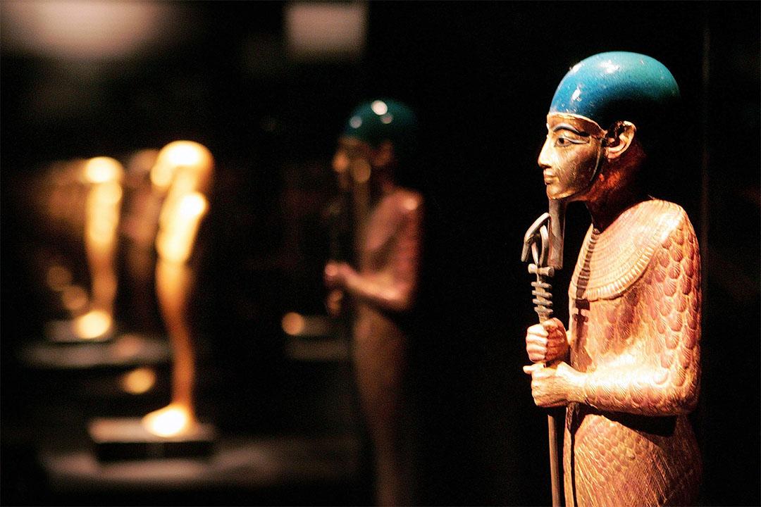圖坦卡門墓中出土的古埃及孟斐斯的造物神普塔(Ptah)雕像。
