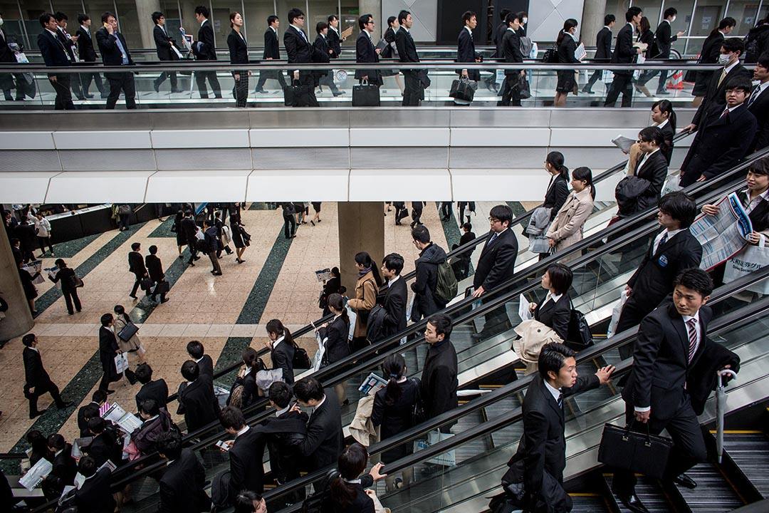 調查顯示,有超過 35%的日本的年輕成人沒有退休的打算,於調查居於首位。
