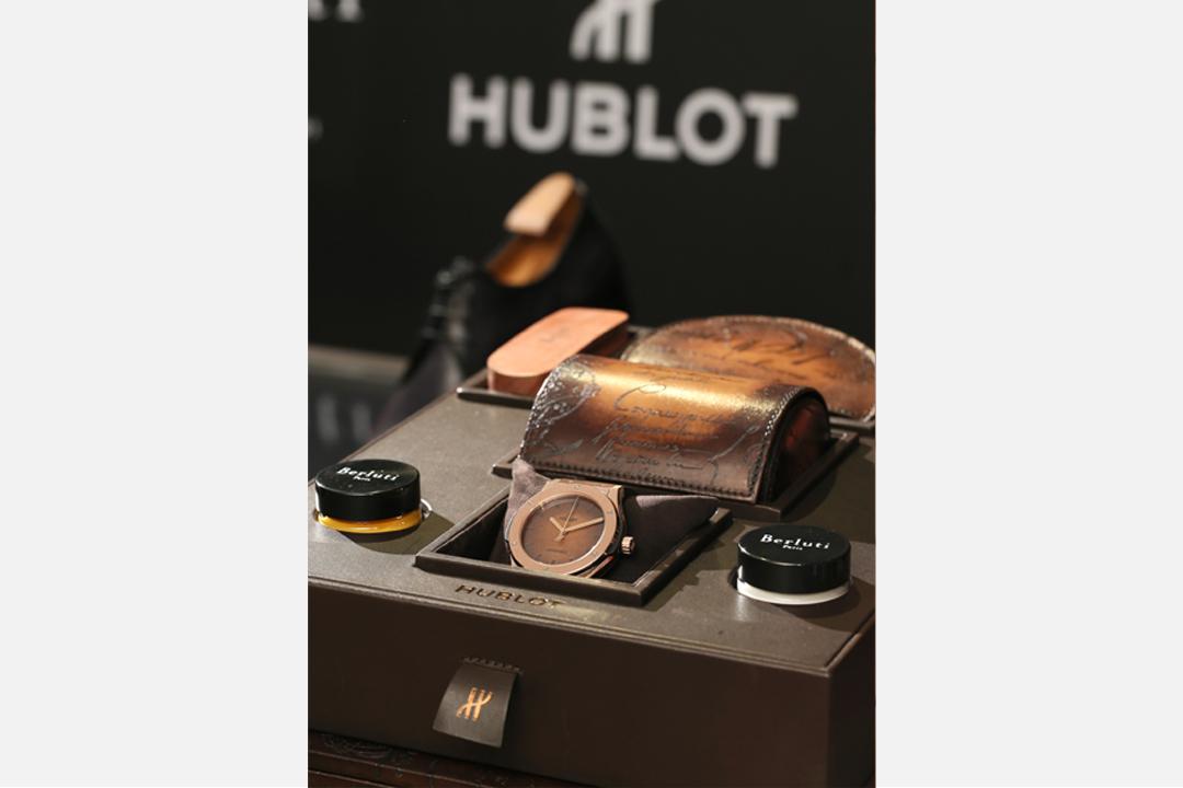 Classic Fusion Berluti Scritto錶盒,以Berluti皮革縫製。