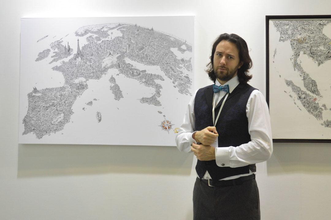 30歲的英國人Jeff Murray,經營藝術公司。