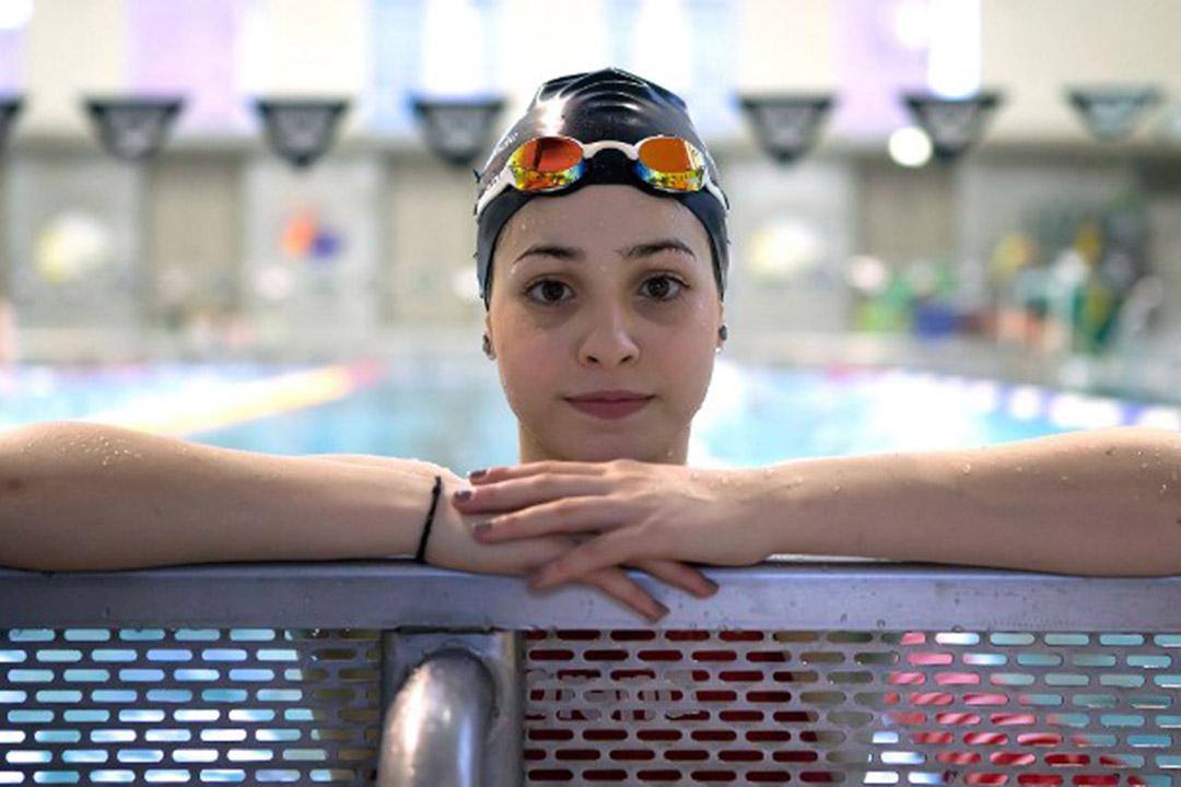 2016年3月2日,敘利亞游泳選手Yusra Mardini在德國柏林訓練,她將為難民代表團出戰里約熱內盧奧運。