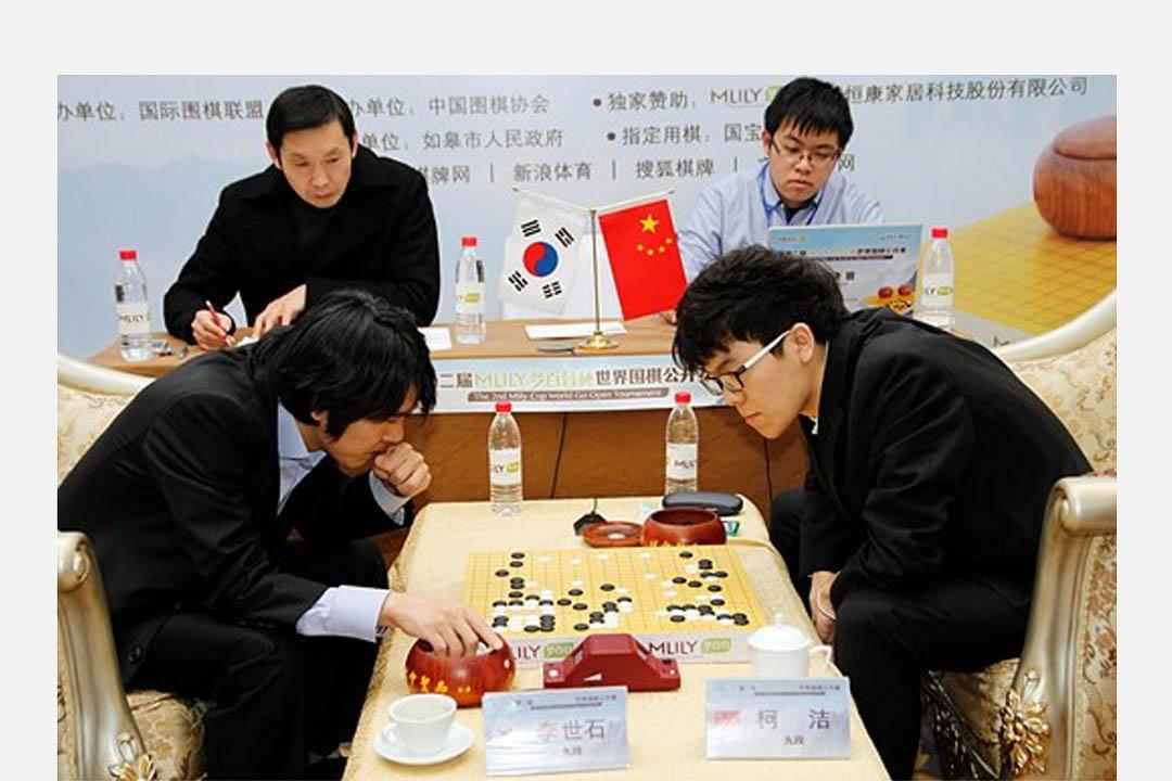 第二屆MLily Cup世界圍棋公開賽決賽,柯潔對李世石。