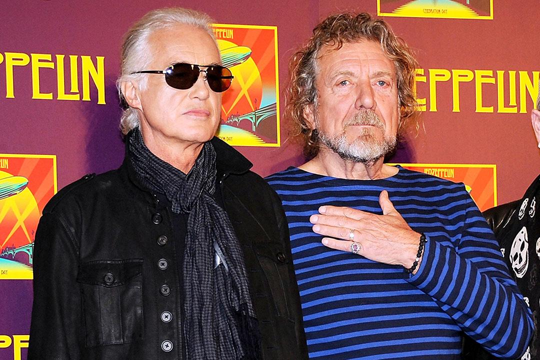 齊柏林飛艇樂隊吉他手吉米·佩奇和歌手羅伯特.普蘭特。