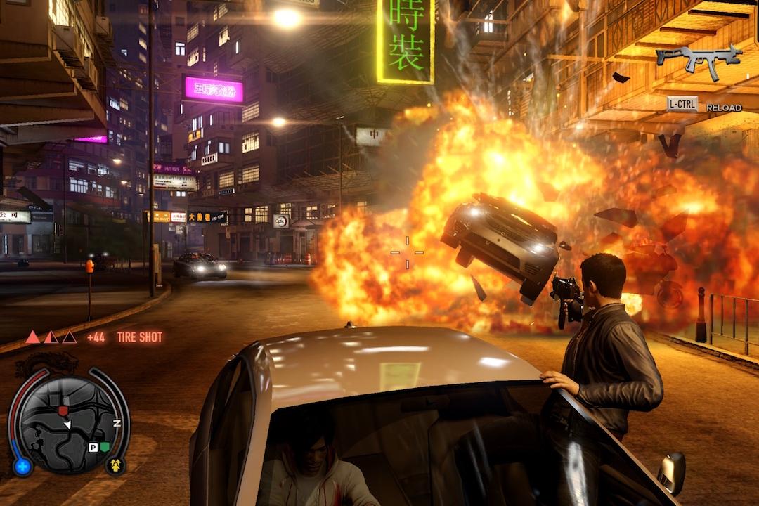 《龍在江湖》中喋血在香港街頭。