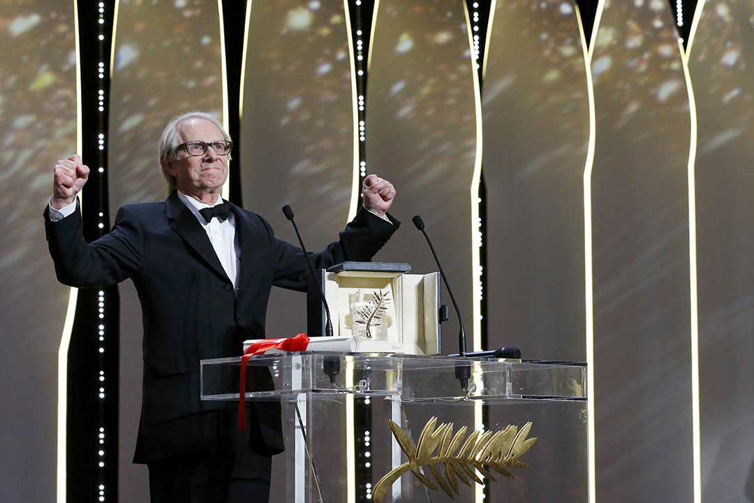 第六十九屆康城電影節,英國左翼導演堅•盧治(Ken Loach)獲得影展最高獎項金棕櫚獎。