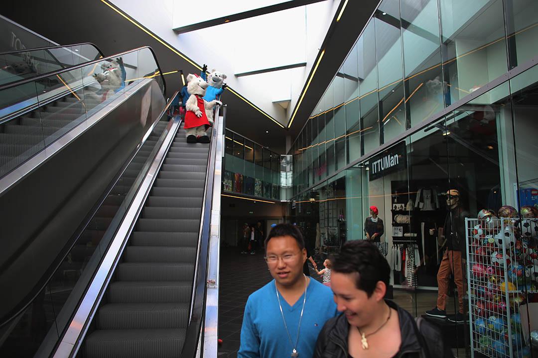 格陵蘭首都努克一個商場。