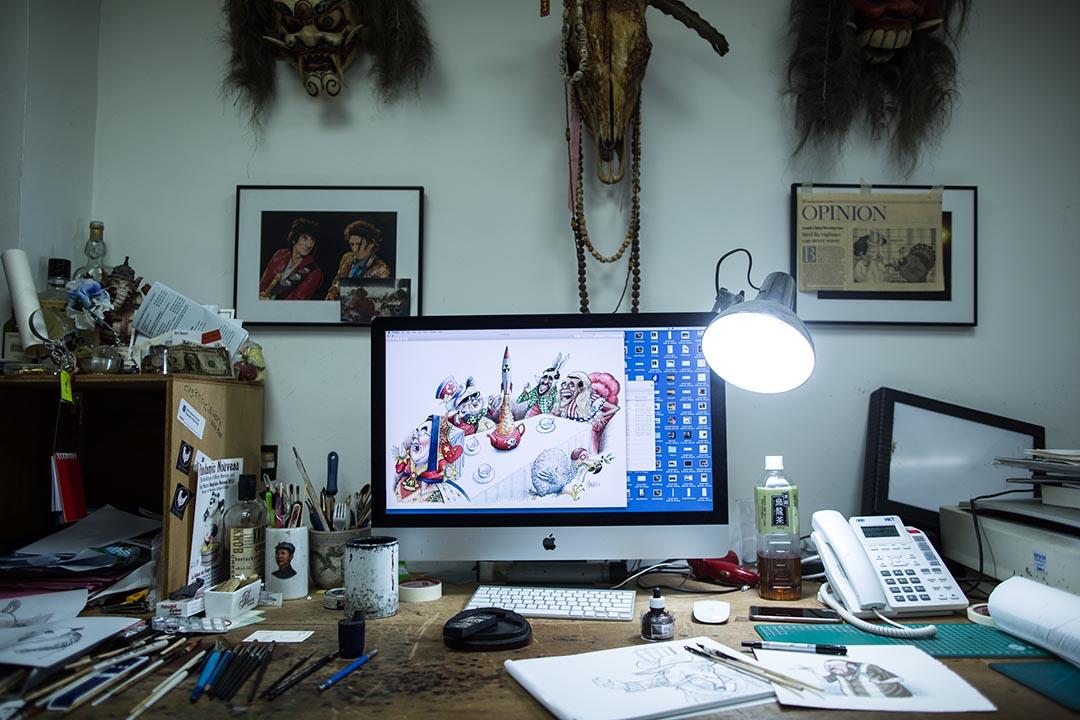 哈里•哈里森(Harry Harrison)的工作桌。