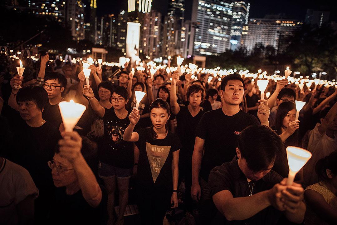 2015年6月4日 ,香港維多利亞公園,支聯會舉辦的紀念六四26週年燭光晚會。