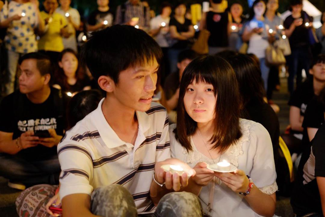 2014 年6月4日,台北舉行天安門鎮壓六四25週年燭光集會。