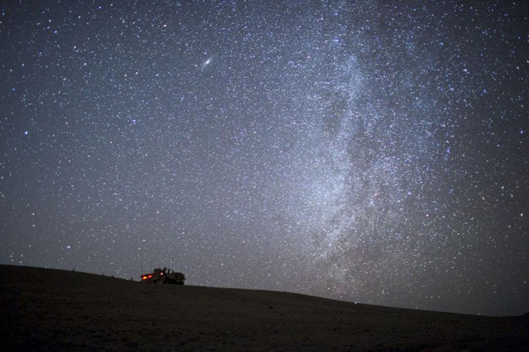 有研究報告指出,地球上有三份之一的人口因為光污染而不能看到銀河。圖為阿富汗夜空中的銀河。