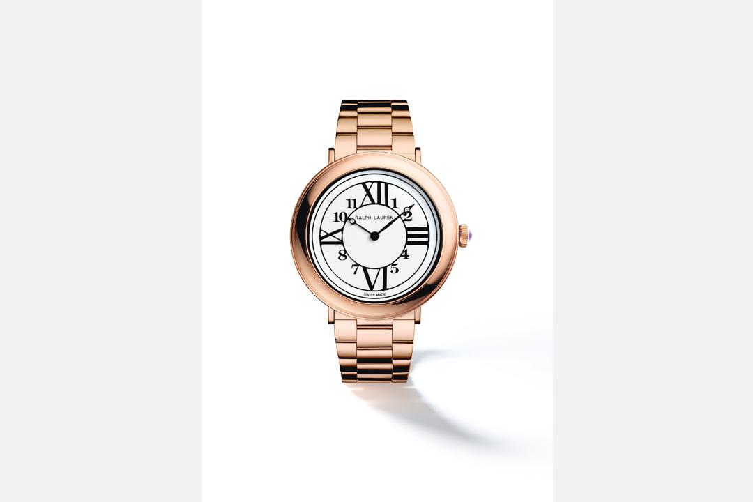 RL888最大特色自然便是錶盤上的阿拉伯數字及羅馬數字的雙重時標設計,同時有玫瑰金及精鋼款、鑲鑽或普通款。