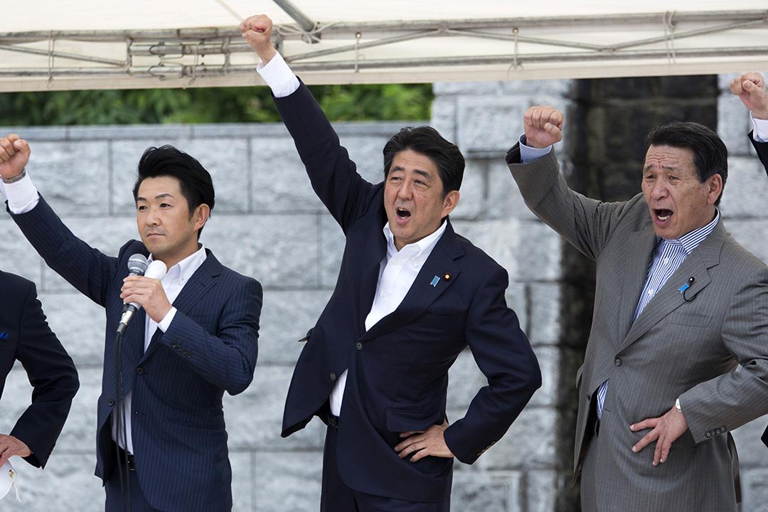 首相安倍晉三出席自民黨參議院改選活動。