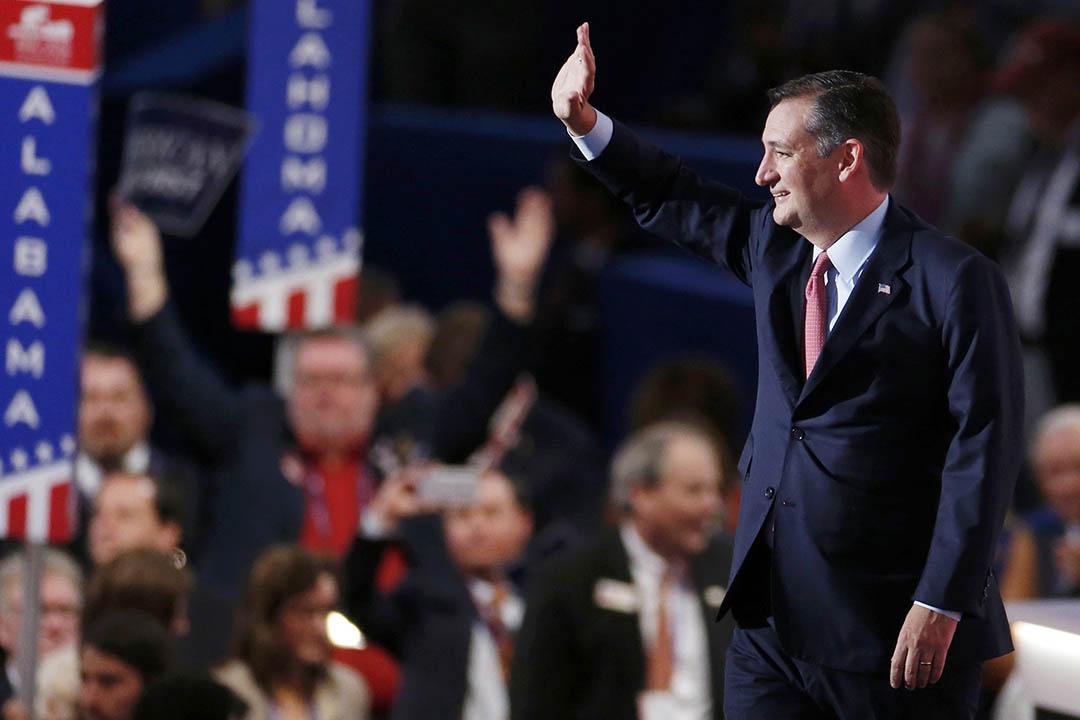 共和黨德克薩斯州參議員克魯斯(Ted Cruz )出席共和黨全國代表大會。
