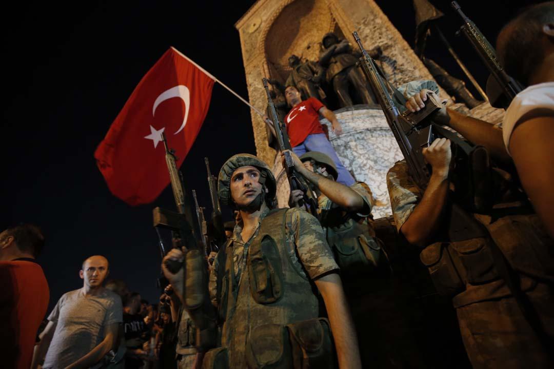 土耳其發生軍事政變。