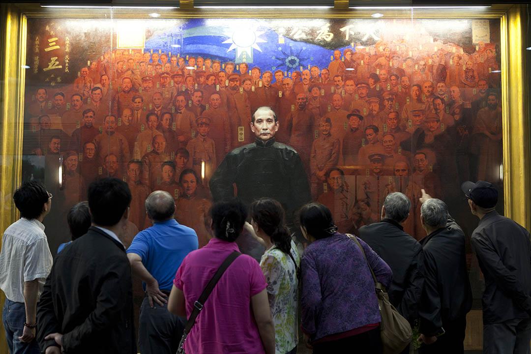 陸客到國父紀念館參觀。
