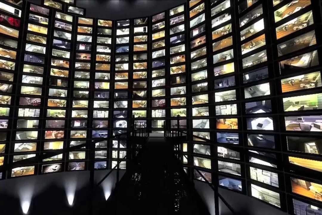 監控每個人的錄像屏幕。