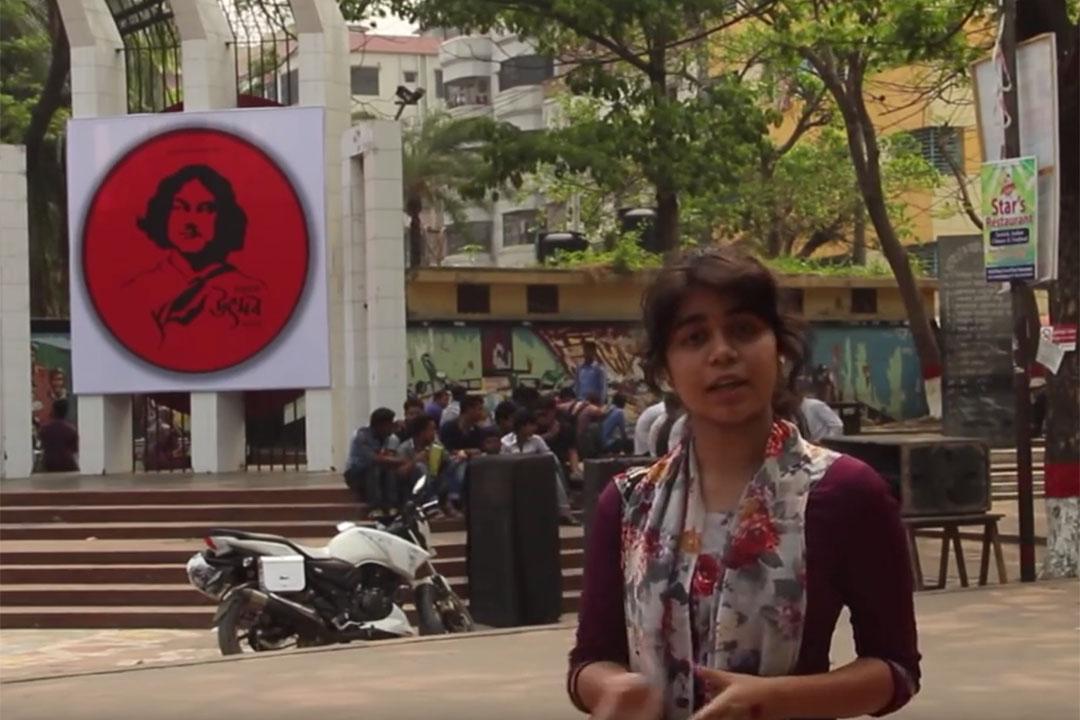 孟加拉兒童記者Arju Mony Dristy。