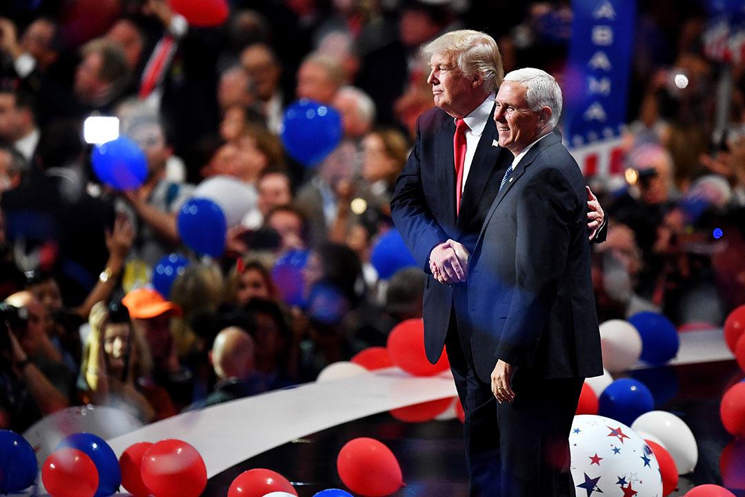 特朗普與副手彭斯出席共和黨全國代表大會。