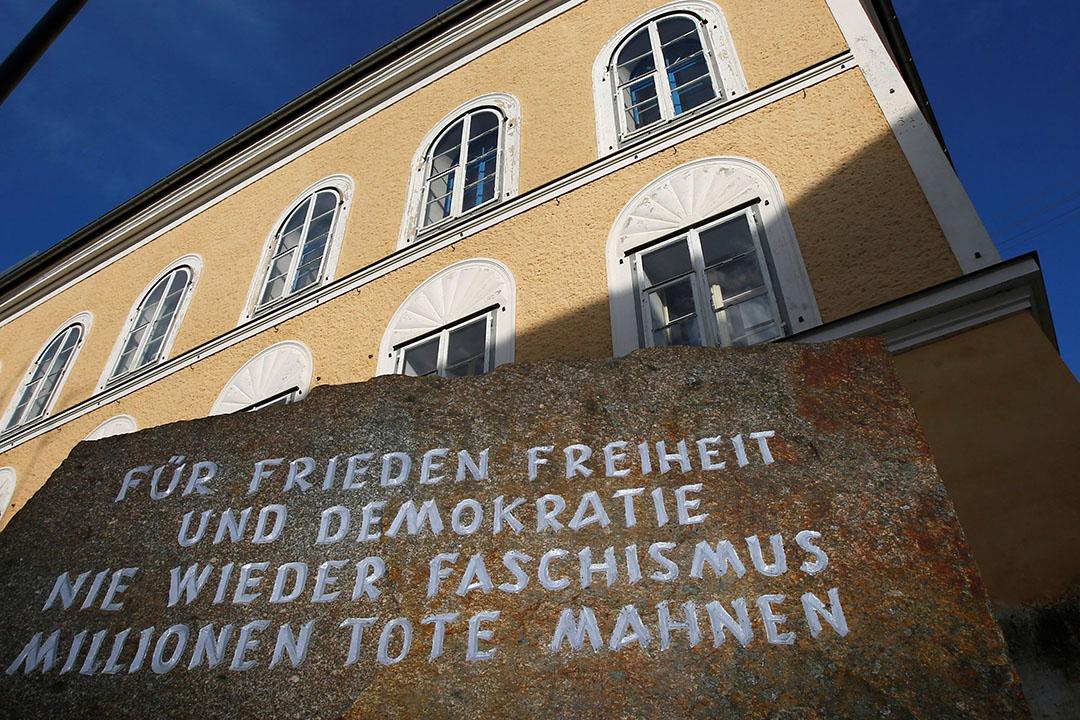 希特拉(Adolf Hitler)位於奧地利小鎮因河畔布勞瑙(Brunau am Inn)出生的舊居。