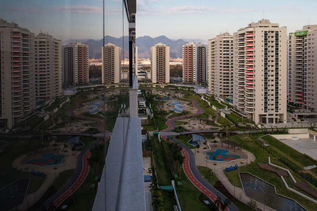圖為巴西里約熱內盧的奧運村。