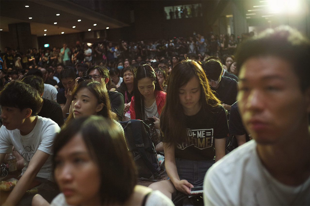 2016年6月4日,香港大學學生會舉辦的六四集會。