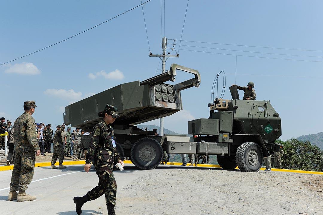 圖為美國與菲律賓進行聯合軍演。