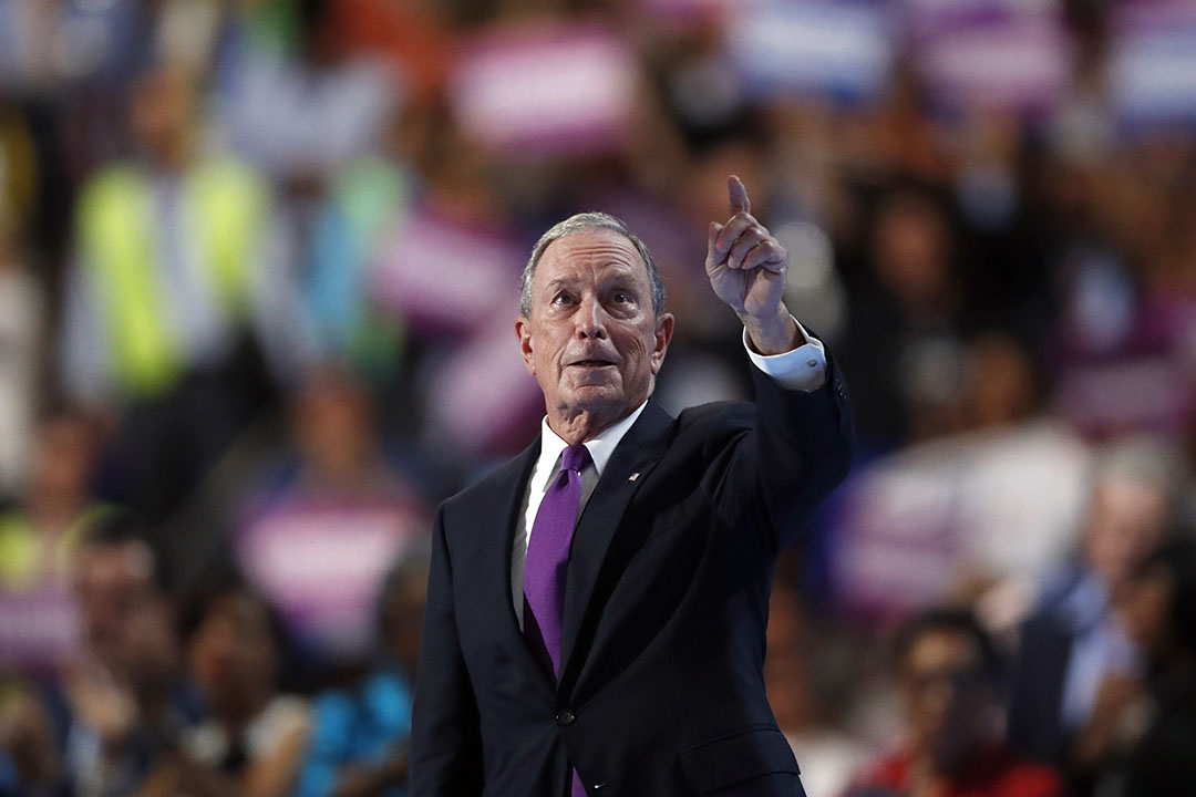 前紐約市長彭博(Michael Bloomberg)。