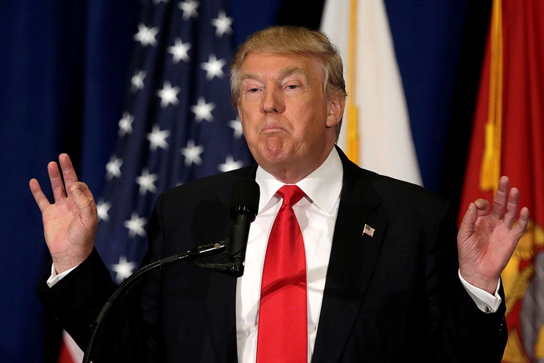 美國共和黨總統候選人特朗普。