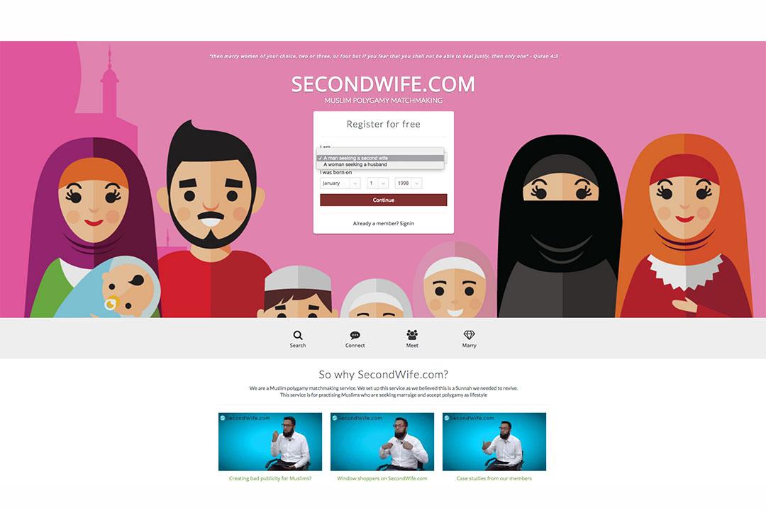 幫助穆斯林找second wife的網站-SecondWife.com。