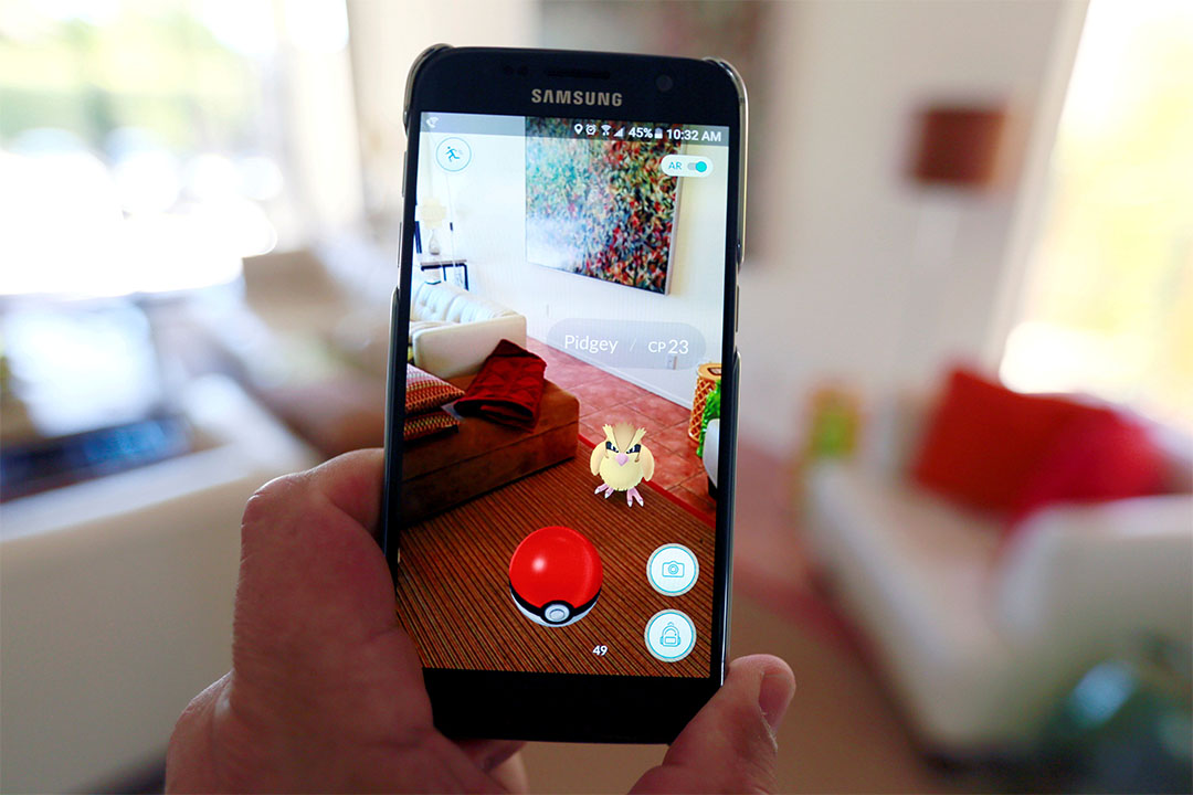 手機遊戲Pokemon Go風靡全球,在美國也大受歡迎。