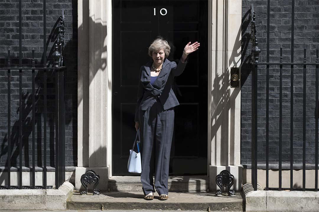 2016年7月12日,文翠珊在內閣會議後向傳媒揮手。