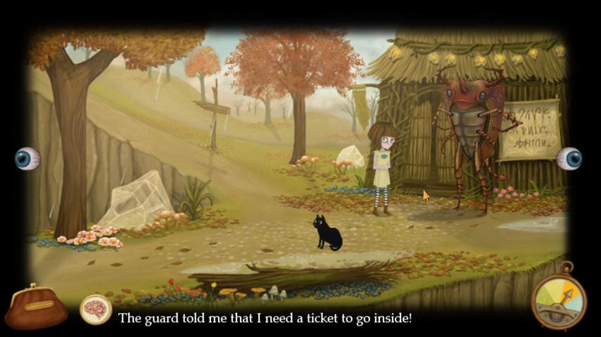 《弗蘭的悲慘之旅》遊戲截圖。