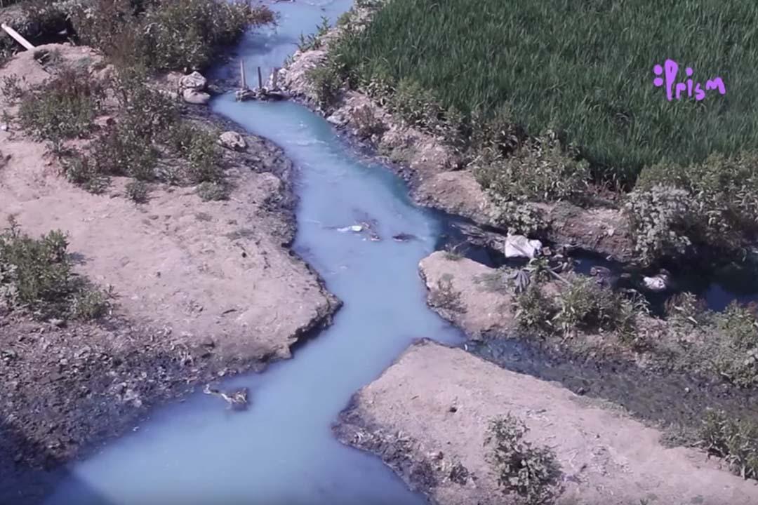 孟加拉兒童記者Mohammed Jahid Hasan Sumon有關河道污染的報導。